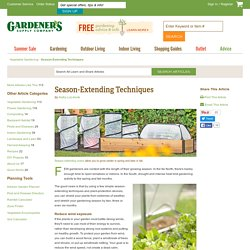 Season-Extending Techniques, Row Covers, Cold Frames, Greenhouses: Gardener's Supply