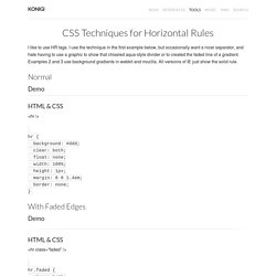 CSS Techniques for Horizontal Rules