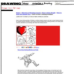 How to Draw Clothing Wrinkles and Fabric Clothes Wrinkles Drawing Tutorials & Drawing & How to Draw People's Clothes Wrinkles Drawing Lessons Step by Step Techniques for Cartoons
