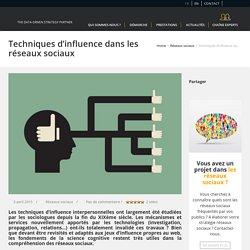 Techniques d'influence dans les réseaux sociaux