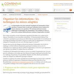 Les techniques pour organiser l'information web