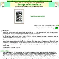 Méthodes et techniques d'élevage du lapin - Elévage en milieu tropical - Introduction
