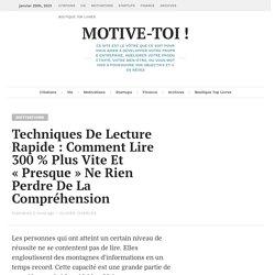 Techniques De Lecture Rapide: Lire 300% Plus Vite Et Comprendre Plus