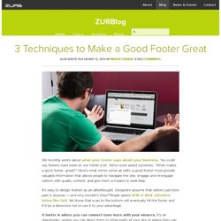 3 Techniques to Make a Good Footer Great by ZURB