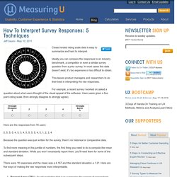How to interpret survey responses: 5 techniques: MeasuringU
