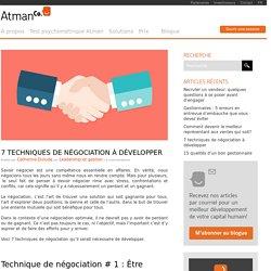 7 techniques de négociation à développer - AtmanCo
