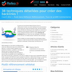 Backlinks : 38 techniques de Netlinking SEO