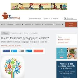 Quelles techniques pédagogiques choisir ? - Thot Cursus