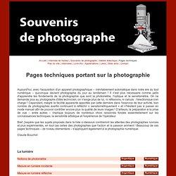 Pages techniques de Claude Bouchot
