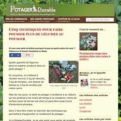 Cinq techniques pour faire pousser plus de légumes au potager