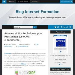 Astuces et tips techniques pour Prestashop 1.6 (CMS e-commerce) - Blog Internet-Formation (Mathieu Chartier)