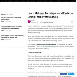Learn Makeup Techniques and Eyebrow Lifting From Professionals