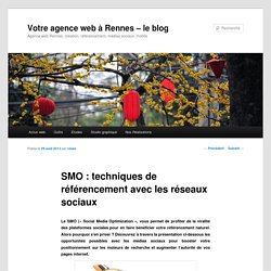 SMO : techniques de référencement avec les réseaux sociaux