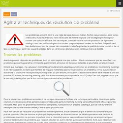 SOAT Blog » Agilité et techniques de résolution de problème