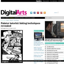 Inking techniques revealed - Corel Painter Tutorial