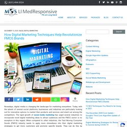 How Digital Marketing Techniques Help Revolutionize FMCG Brands