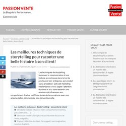 Techniques de Storytelling - Passion Vente