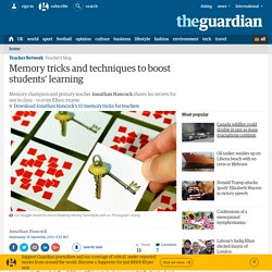 Memory tricks and techniques to boost students' learning