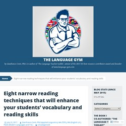 Eight narrow reading techniques that will enhance your students' vocabulary and reading skills