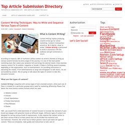 Top Article Submission Directory