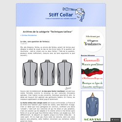 Techniques tailleur « Stiff Collar