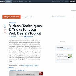 8 Ideas, Techniques & Tricks for your Web Design Toolkit