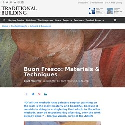 Buon Fresco Painting: Materials and Techniques - Traditional Building