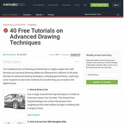 40 Free Tutorials on Advanced Drawing Techniques | Vectortuts+ - StumbleUpon