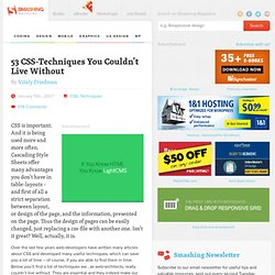 53 CSS-Techniques You Couldn't Live Without | Smashing Magazine