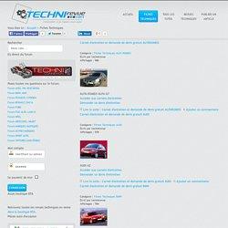 TECHNIrevue : revue technique automobile. - Fiches techniques