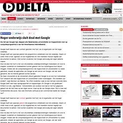 TU Delta - Archief: Hoger onderwijs sluit deal met Google
