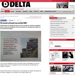 TUDelta: neemt afstand van artikel NRC