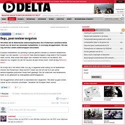 TUdelta: Oeps, peer review vergeten