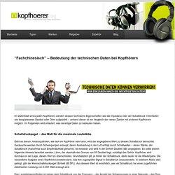 Bedeutung der technischen Daten von Kopfhörern