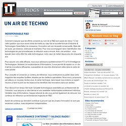Un air de Techno - Blog Industrie & Technologie