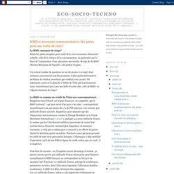 RMD et monnaies communautaires: des pistes pour une sortie de crise?