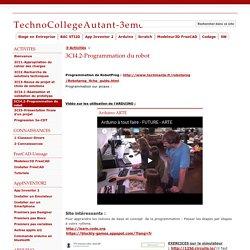 3CI4.2-Programmation du robot - TechnoCollegeAutant-3eme