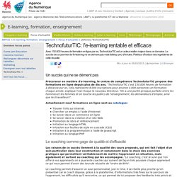 TechnofuturTIC. L'e-learning rentable et efficace
