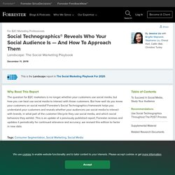 Social Technographics® Reveals Who Your Social Audience Is — And How To Approach Them