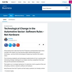 3.7.6 - Technological Change in the Automotive Sector: Software Rules - Not Hardware