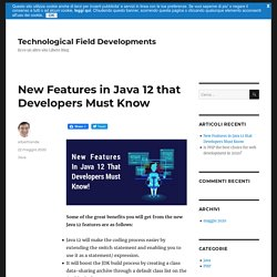 New Features in Java 12 that Developers Must Know - Technological Field Developments