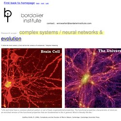 research Scope: neural network nature, complex networks, social networks, technological networks, information networks, cosmic evolution,fractal hierarchy, memory, learning, intelligence, Power laws, pareto distributions and Zipf's law,longtailed distribu