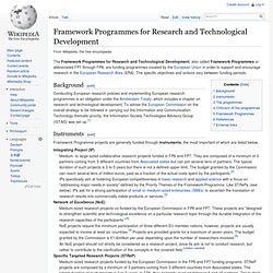 Framework Programmes for Research and Technological Development