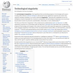 Technological singularity - Wikipedia, the free encyclopedia - (Build 20100722150226)