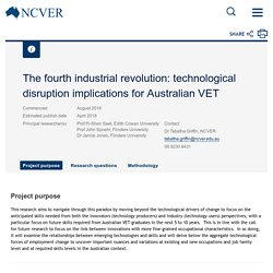 The fourth industrial revolution: technological disruption implications for Australian VET