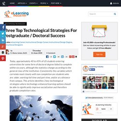 Three Top Technological Strategies For Postgraduate / Doctoral Success