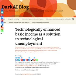 Technologically enhanced basic income as a solution to technological unemployment