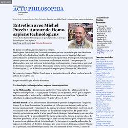 Entretien avec Michel Puech : Autour de Homo sapiens technologicus