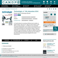 Technologie, n° 194, décembre 2014