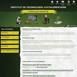 Service de la formation continue de l'Institut de technologie agroalimentaire